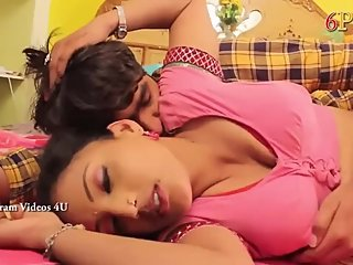 Hot desi shortfilm 365 - Shabana boobs pressed & kissed in pink blouse, nav