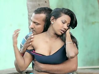 Hot desi shortfilm 254- Boobs kissed & grabbed in blouse, navel kissed well