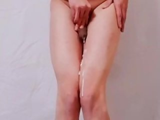 Sissy Training - Sissygasm Tiny Clit Leaking Hidden Cam