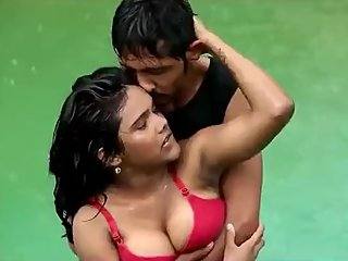 Hot desi shortfilm 132 - Boobs squeezed, pressed & grabbed in wet pink bra