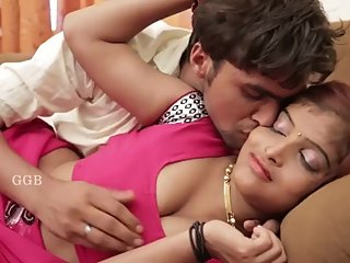 Hot desi shortfilm 20 - Boobs squeezed many time in pink blouse, navel kiss