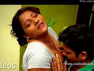 Hot indian suma aunty pressing romance