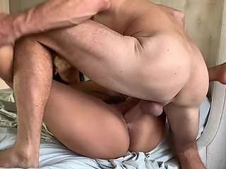 Johnny Sins - Gets His Ass Licked and Creampies Busty, Natural Teen Nympho!