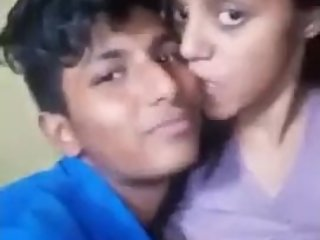 Brother Pressing Stepsister's Boobs