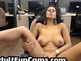 Indian Sister Masturbates Her Muslim Pussy While At Work