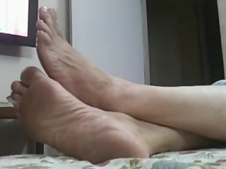 Candid Indian Wife tired soles!