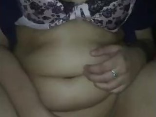 British Pakistani slut playing with pussy in back of car