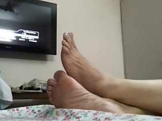 Candid Indian Wife wide soles!