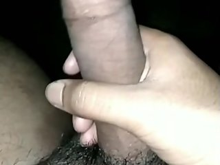 Horny Indian guy shaking his big black dick
