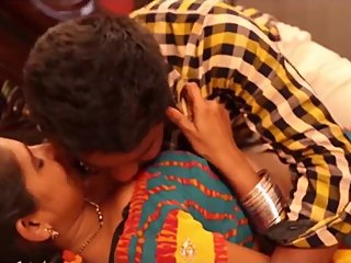Hot desi shortfilm 330- Boobs pressed, kissed, navel kiss, cleavage, smooch
