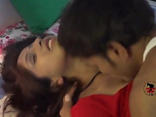 Hot desi shortfilm 284 - Boobs kissed & pressed in red blouse, navel kissed