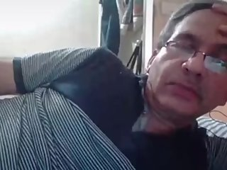 Indian old daddy showing his dick on cam