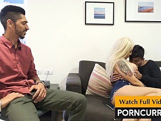 2 Indian boys fuck hot European girl in Threesome sex