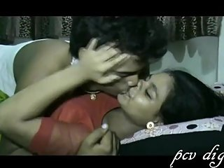 Hot desi shortfilm 171 - Boobs pressed & kissed in red blouse, navel kissed