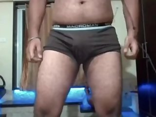 Sexy indian guy showing himself in underwear