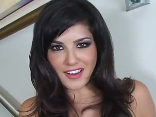 Sunny Leone strip and tease closeup