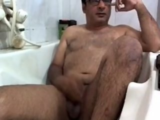 Indian daddy naked and showing dick and asshole