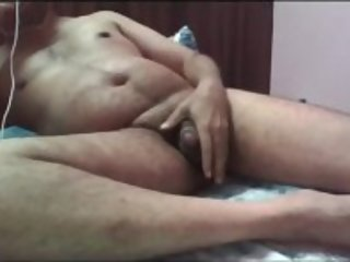 Indian punjabi daddy showing big ass and small dick